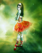Ballet Digital Art Prints - Robots Can Dream too Print by Karen Koski