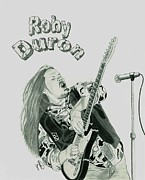Rock N Roll Drawings Posters - Roby Duron Band Poster by Matthew Moore