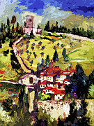 Rocca Maggiore Assisi Italy Print by Ginette Fine Art LLC Ginette Callaway