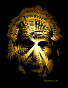 3d Portraits Acrylic Prints - RocEcho Einstein Design Acrylic Print by One Nation Under God