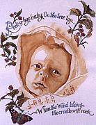 Nursery Rhyme Painting Prints - Rock a Bye Baby Print by Victoria Heryet