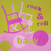 Shower Gift Posters - Rock And Roll Baby Poster by Laurie Breen