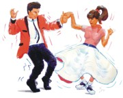 60s Drawings - Rock and Roll Dancers by Mike Jory