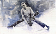 Figurative Prints - Rock and Roll Music Chuk Berry Print by Yuriy  Shevchuk