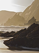 Rock And Waves Dingle Peninsular Print by Julian Easten