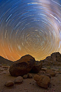 Stars Trail Posters - Rock Around the Clock Poster by Basie Van Zyl