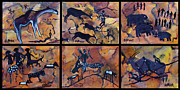 Carolinestreet Posters - Rock Art Panels  Poster by Caroline Street