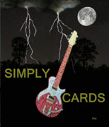 Simply Cards Prints - Rock Blues Print by Eric Kempson