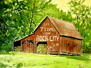 Pete Maier Metal Prints - Rock City Barn Metal Print by Pete Maier