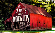 Tennessee Barn Originals - Rock City by David A Brown