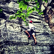 Sports Art - Rock Climbing At Peters Kill by Arnab Mukherjee