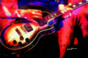 Live Music Digital Art Posters - Rock Concert Poster by Anthony Caruso