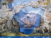 Johnny Trippick Framed Prints - Rock Face Framed Print by Johnny Trippick