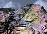 Opalescent Framed Prints - Rock Face on the Coquihalla Framed Print by Barbara  White