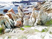 Jan Hattingh Prints - Rock Formation Bettys Bay Print by Jan Hattingh