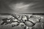 Black And White Photography Photos - Rock Harbor by Dapixara Art