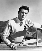 V-neck Sweater Prints - Rock Hudson, 1954 Print by Everett