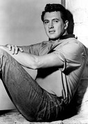 1950s Portraits Photo Metal Prints - Rock Hudson, C. Mid 1950s Metal Print by Everett