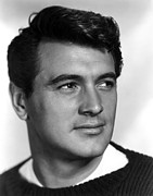 1950s Portraits Framed Prints - Rock Hudson, Ca. 1950s Framed Print by Everett