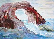 Original - Rock in the Mediteranean by Mary Sedici