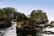 Neah Bay Posters - Rock Islands Poster by Christy Hodgin