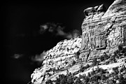 Red In Black Prints - Rock Ledge in Sedona Print by John Rizzuto