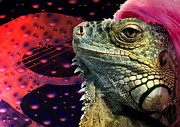 Gigs Art - Rock Lizard by Michelle Milano