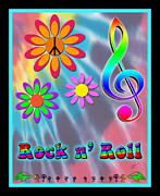 Linda D Seacord Prints - Rock Music Poster Print by Linda Seacord