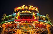 Amusements Prints - Rock n Roll Amusement Ride Print by John Greim