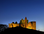 People Of The Night Prints - Rock Of Cashel In County Tipperary Print by Chris Hill