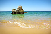 Algarve Framed Prints - Rock on Beach Framed Print by Carlos Caetano