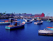 Motif 1 Posters - Rock Port Harbor And Motif No. 1 Poster by Rich Walter