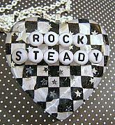 Resin Jewelry - Rock Steady - Checkered Heart Pendant by Razz Ace