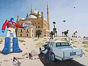 Baghdad Painting Acrylic Prints - Rock the Casbah Acrylic Print by Scott Listfield