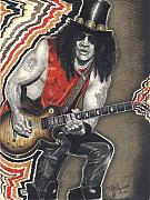 Rock N Roll Drawings Originals - Rock This by Kelvin Winters