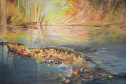 John and Lisa Strazza - Rockaway River in Fall