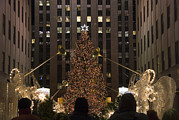 Crowds  Prints - Rockefeller Center And The Famous Print by Taylor S. Kennedy