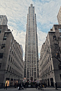 Rockefeller Center Prints - Rockefeller Center Print by Benjamin Matthijs