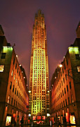 Rockefeller Center Framed Prints - Rockefeller Center Framed Print by Evelina Kremsdorf