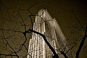Rockefellercenter Newyorkcity Blackandwhite Metro Urban City Prints - Rockefeller Center Print by Mark Giarrusso
