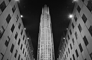 Blackandwhite Photo Metal Prints - Rockefeller Center Noir Metal Print by Mark Giarrusso