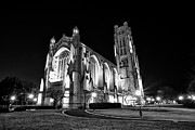 Light And Dark  Photo Prints - Rockefeller Chapel - B and W Print by CJ Schmit