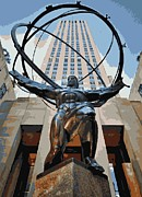 Rockefeller Plaza Framed Prints - Rockefeller Plaza Color 16 Framed Print by Scott Kelley