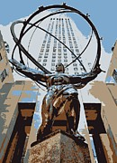 Rockefeller Plaza Framed Prints - Rockefeller Plaza Color 6 Framed Print by Scott Kelley