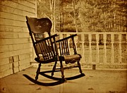 Front Porch Prints - Rocker Print by Odd Jeppesen