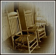 Rocking Chairs Digital Art Posters - Rocker Poster by Trish Clark