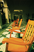 Rocking Chairs Metal Prints - Rockers Metal Print by Cheryl Young