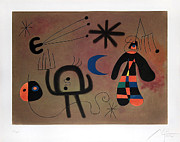 Joan Miro - Rocket-Bird Aims for the...