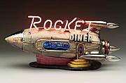 Retro Ceramics - Rocket Diner by Jerry  Berta
