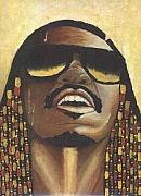Keenya Woods Mixed Media Originals - Rocket Love - Stevie Wonder  by Keenya  Woods